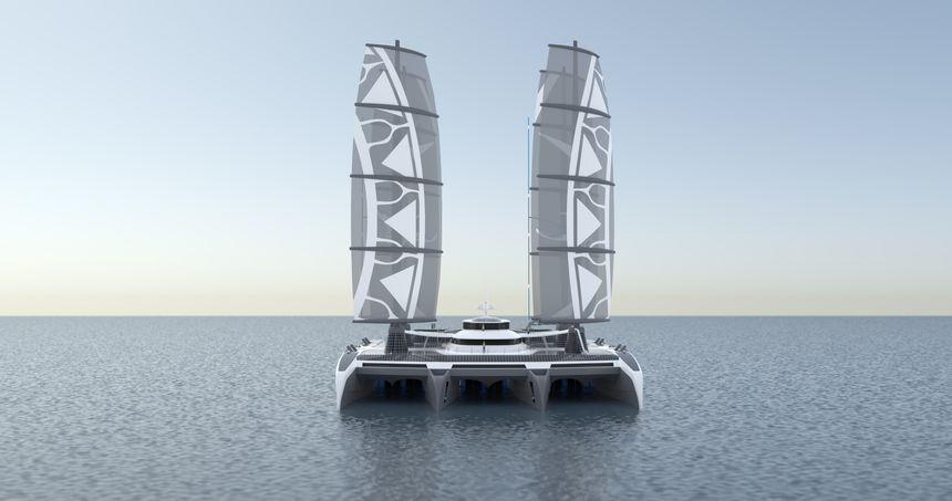 Autre vue du Manta, le bateau dépollueur imaginé par Yvan Bourgnon et son association - Aucun(e)