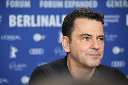 """Le réalisateur, Christian Petzold pendant la conférence de presse pour son film """"Transit"""" sélectionné en compétition officielle à la Berlinale 2018, le 17 février 2018 à Berlin, en Allemagne."""