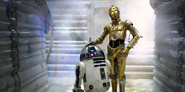R2D2 et C3PO, les robots intelligents de Star Wars.