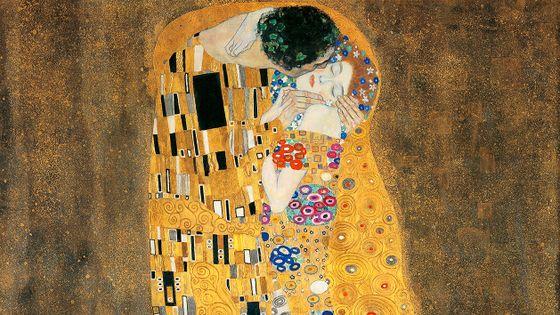 Gustav Klimt Le Baiser 1908-1909 Huile, or, argent, platine sur toile préparé au blanc au zinc 180 x 180 cm Österreichische Galerie Belvedere, Vienne