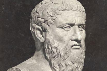 Buste du philosophe grec Platon au Musée, Vatican, Rome.