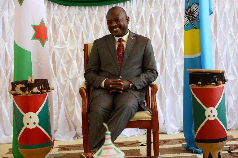 le président burundais Pierre Nkurunziziza, ici la semaine dernière, alors qu'il recevait une délégation de l'UNHCR