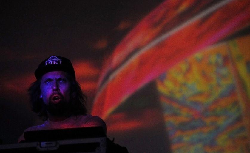 Pedro Winter, aka Busy, lors de son Dj Set à Coachella
