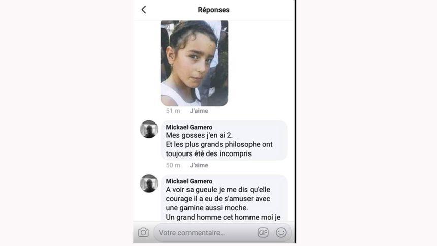 Les propos tenus sous pseudo sur Facebook par un habitant de Sarreguemines à l'encontre de Maëlys.