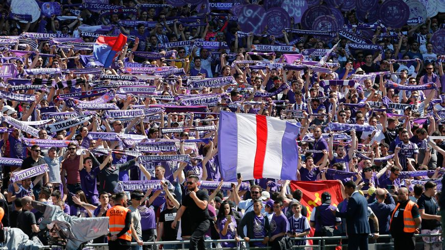 Une tribune de supporters de Toulouse