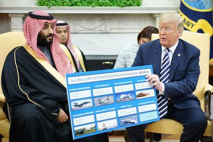Mohammed Ben Salmane avec Donald Trump il y a dix jours à Washington