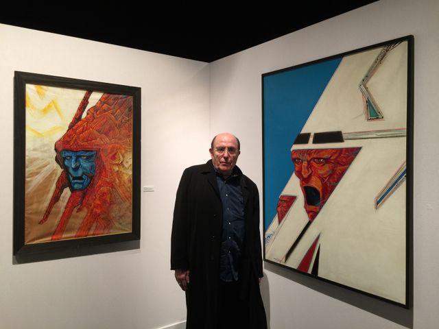Philippe Druillet dans son exposition au Pulp Festival en 2018