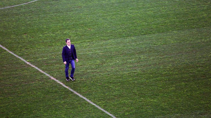 Le président de l'OM, Jacques-Henri Eyraud au stade Vélodrome