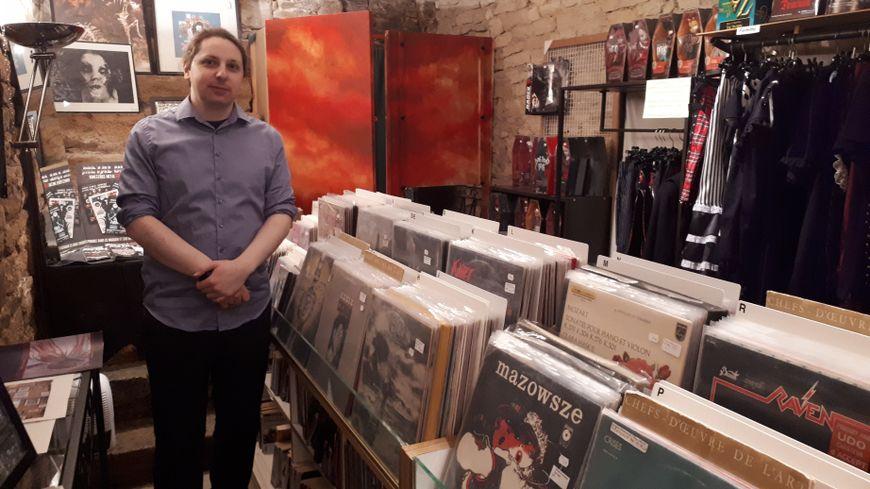 Mathieu Manière, le gérant de la boutique Ciel Rouge associée au Disquaire Day