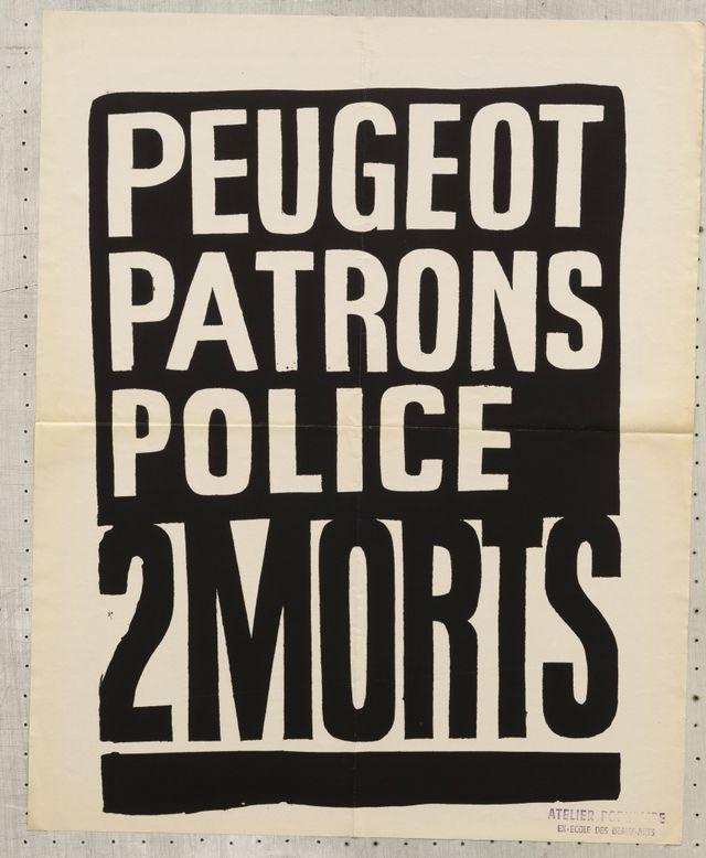 Affiche de mai 68 éditée par l'Atelier Populaire