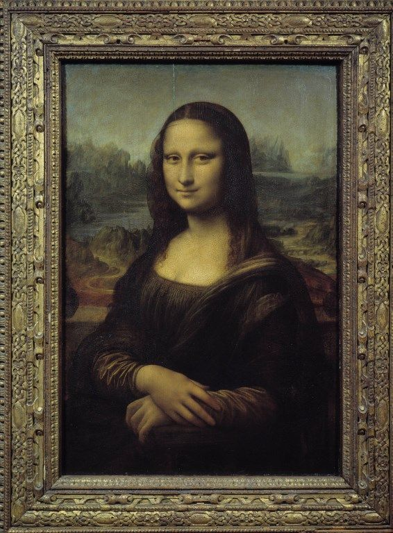 La Joconde, portrait de Mona Lisa. Peinture de Leonard de Vinci ( Musee du Louvre Paris)