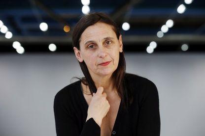 Anne Teresa De Keersmaeker,  danseuse, chorégraphe et figure majeure de la danse contemporaine belge et mondiale au Centre Georges Pompidou à Paris le 24 février 2016..