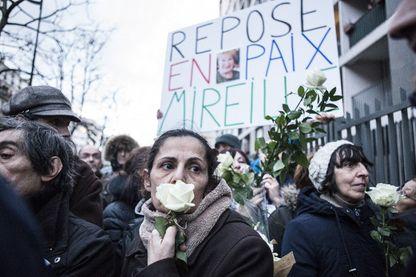La marche blanche en hommage à Mireille Knoll