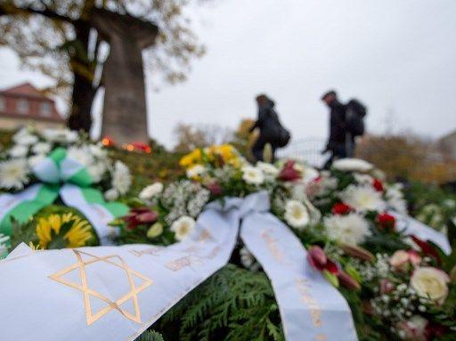 Commémoration de la Nuit de Cristal, à Dresde.