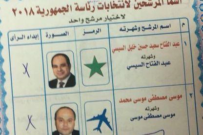 Un bulletin de vote invalidé avec le nom du footballeur Mohammed Salah