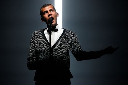 Stromae en concert à New York, au Madison Square Garden en 2015