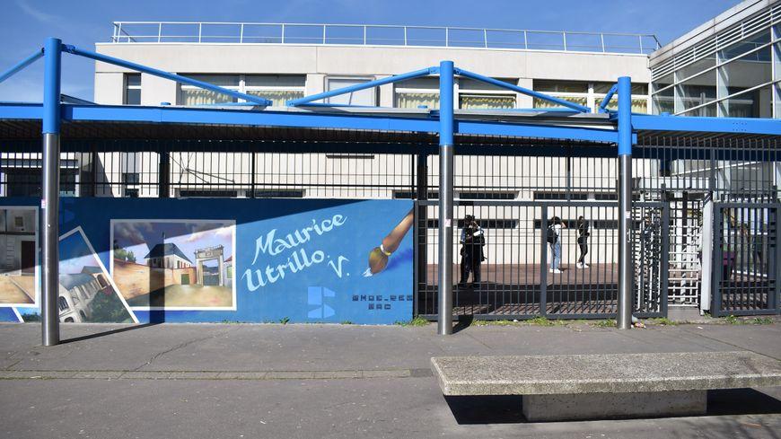 Le lycée Maurice Utrillo de Stains ce vendredi