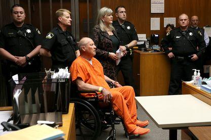 Joseph James DeAngelo lors de l'audience vendredi devant un tribunal de Sacramento en Californie.