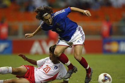 Marinette Pichon à la Coupe du monde en 2003