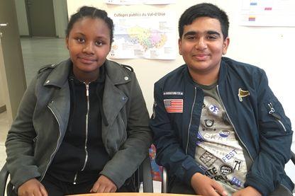 """Nifahi et Youssouf, en 3ème au collège Léon Blum de Villiers-le-Bel. """"Sur 102 élèves, seuls 2 élèves ont effectué leur stage hors des frontières de la ville"""", selon le principal."""