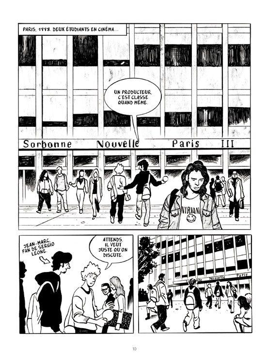 """Planche de """"Avec Edouard Luntz, le cinéaste des âmes"""", aux éditions Futuropolis"""