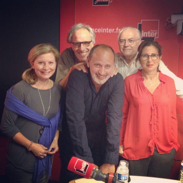 Le plateau de Vous les femmes ce dimanche ! Avec, de gauche à droite : Isabelle Sarfati, Hervé Pauchon, Daniel Morin,Albert Algoud et Anne Baquet