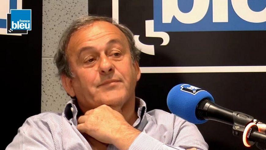 Michel Platini, invité de Stade Bleu dimanche 20 mai 2018.