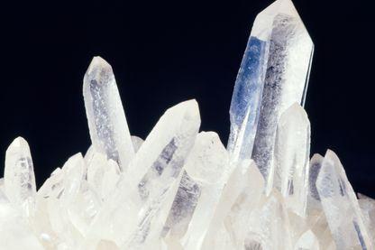 Les cristaux. Ici quartz de Namibie