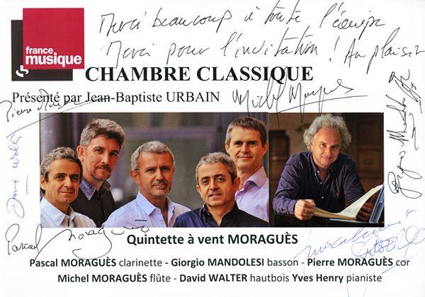 Livre d'or Chambre Classique Quintette Moraguès / Yves Henry