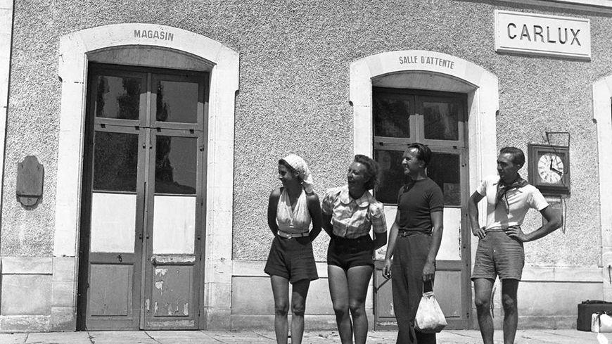 la gare de Carlux en 1937