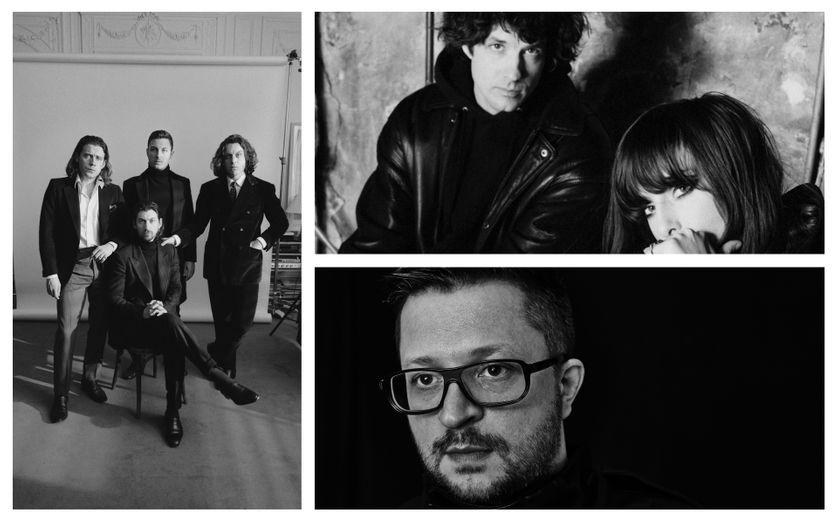 A gauche : Arctic Monkeys ©Domino Records. A droite : Beach House et Mark Pritchard ©WARP