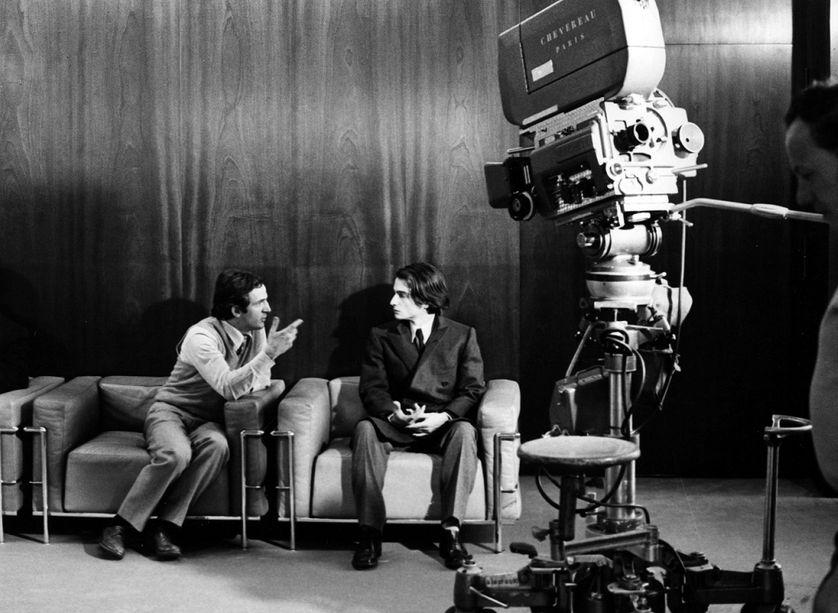 """Sur le tournage de """"Domicile conjugal"""" 1970 de François Truffaut avec Jean Pierre Léaud."""