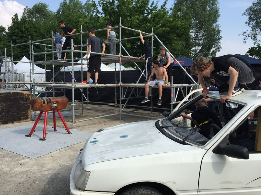 La structure de parkour. - Radio France