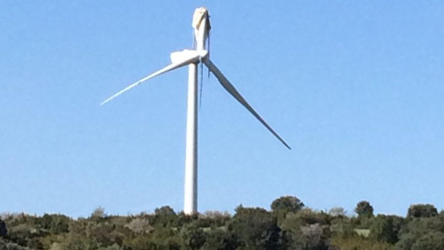 L'éolienne cassée de Dio-et-Valquières