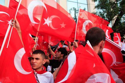 Manifestation anti-gouvernementale sur la place Taksim à Istanbul, le 29 juin 2013.