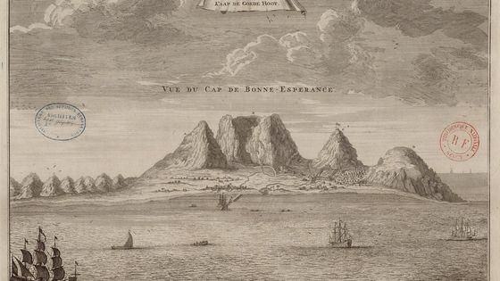 Vue du cap de Bonne-Espérance - 1700-1799