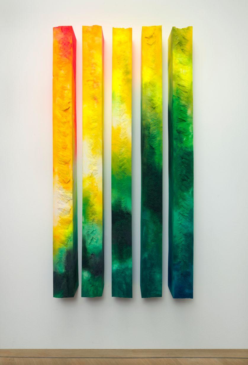 """""""Albedo 100"""" 2017, peinture acrylique pilée dans mousse polymère. 200x125x17 cm"""