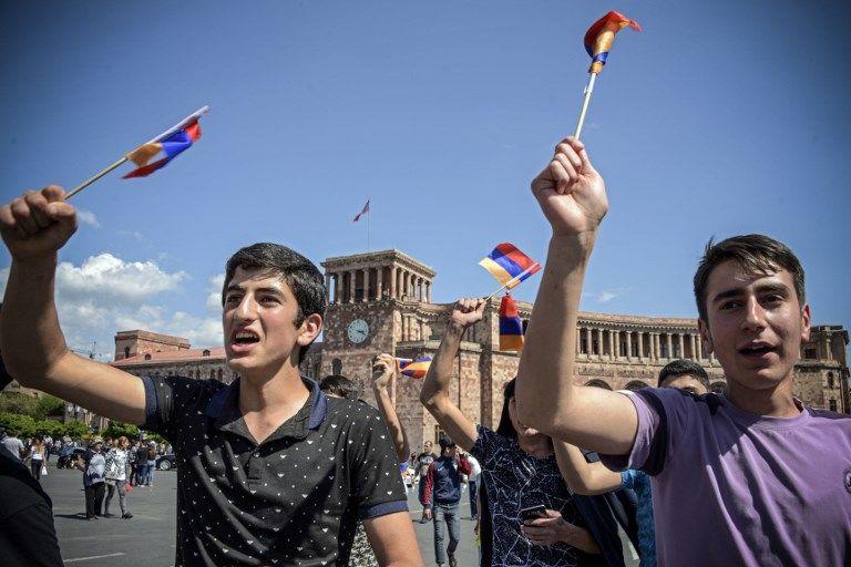 Manifestation à Erevan (Arménie)