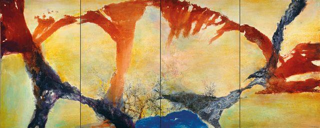 Zao Wou-Ki, Décembre 89 – février 90 - Quadriptyque, 1989-1990 Collection particulière