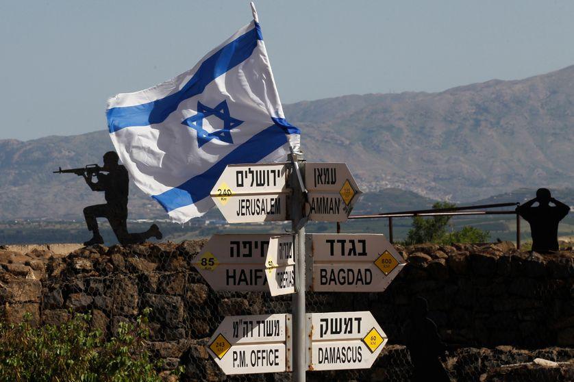 Poste d'observation de l'armée israélienne au Mont Bental, dans la partie du Golan annexée par Israël (10/05/18)
