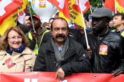 Philippe Martinez lors de la marche du 1er mai 2018