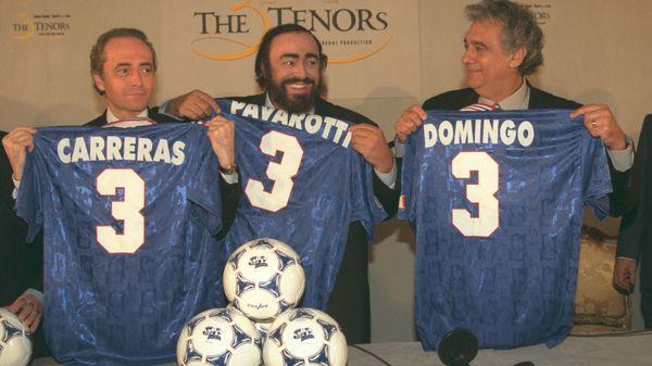 Plácido Domingo et Juan Diego Florez en ouverture de la Coupe du monde de football