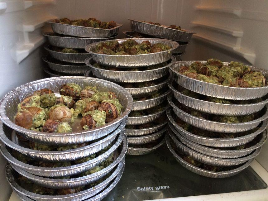 4000 escargots attendent d'être dégustés au restaurant le Relax à Périgueux pendant les fêtes de la Saint Georges