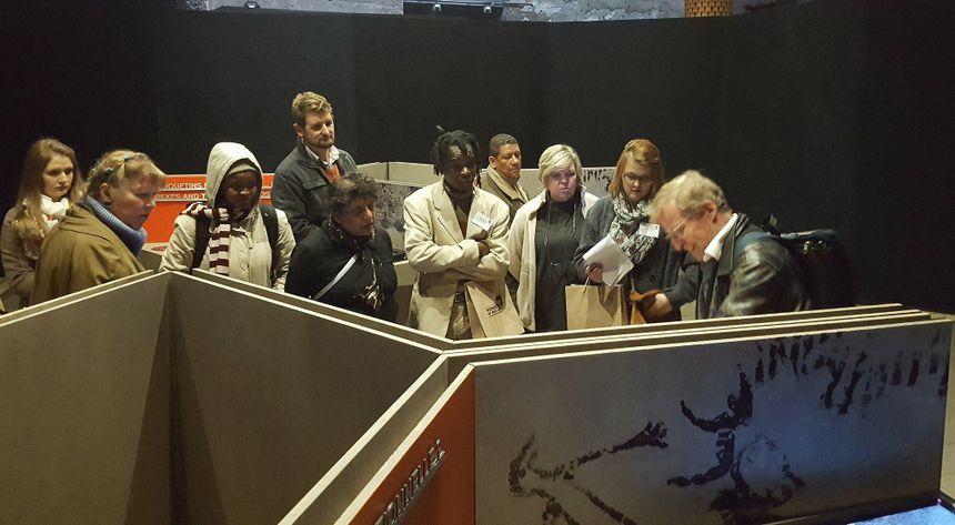 Quelques journalistes ont pu visiter l'exposition en avant-première.