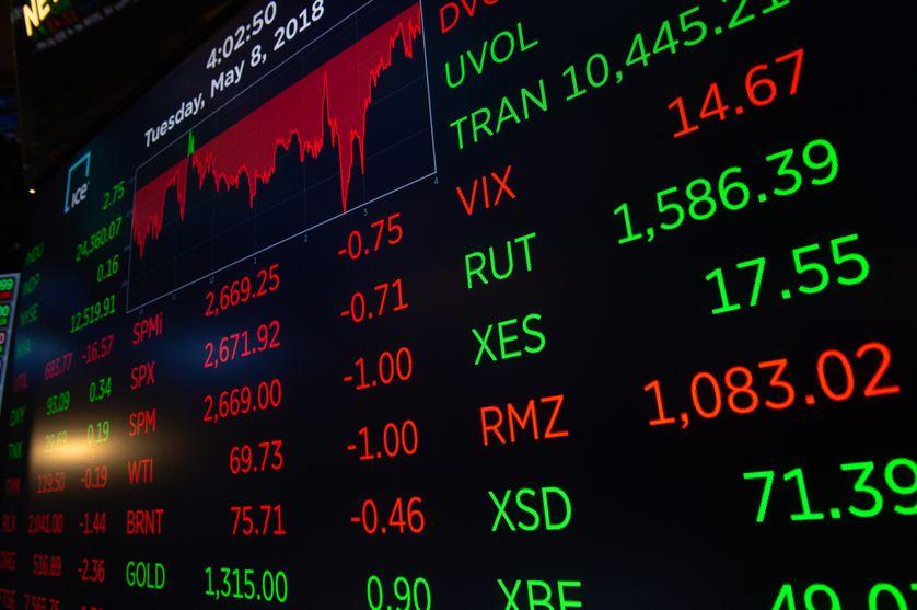 Clôture de la bourse de New-York le 8 mai