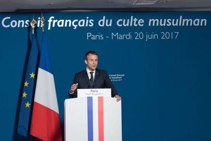 Emmanuel Macron au CFCM pour la fin du jeûne du Ramadan