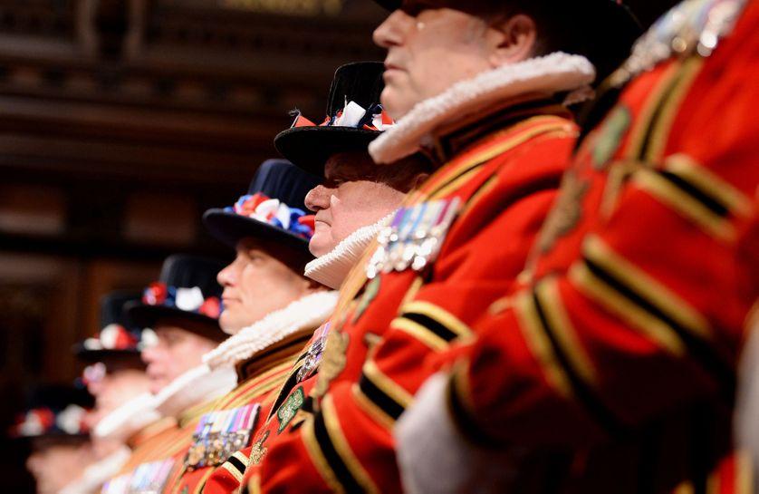 Les Yeoman Warders (les gardiens de la Tour) à la Chambre des Lords