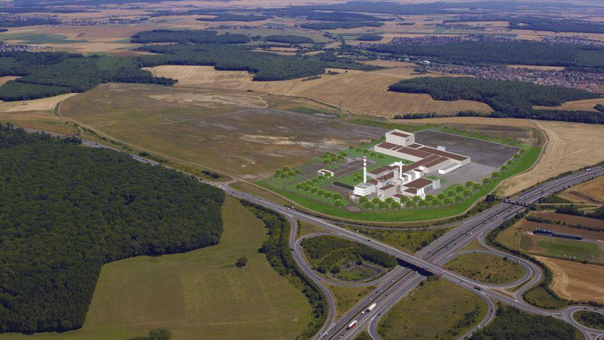 Vue 3D de la future usine Knauf d'Illange.