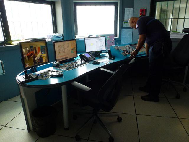 Le PC central de surveillance du centre de Condé-sur-Sarthe