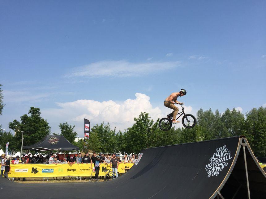 Le BMX, une des disciplines reines au NL Contest. - Radio France